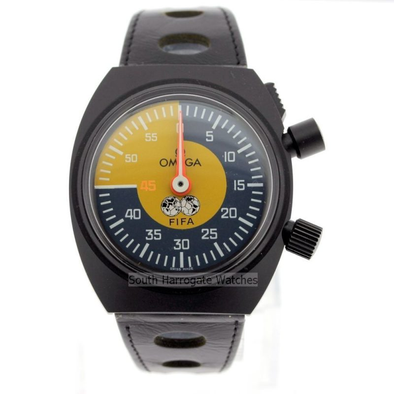 Omega Retro Vintage Official Soccer Fifa Referees Watch 1979 PVD Steel Timer
