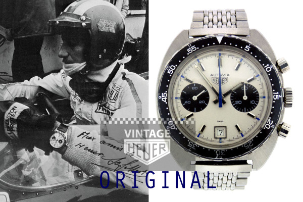 Vitnage HEUER chrono Autavia Jo Siffert racing watch