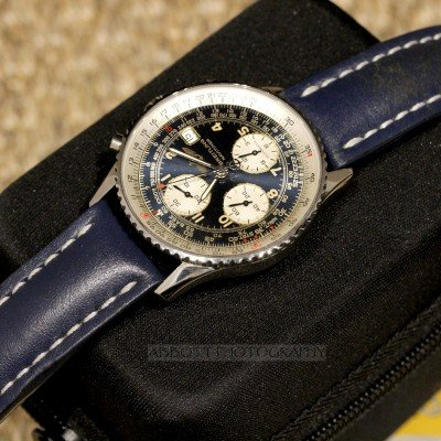 BREITLING Old Navitimer ii A13022 Automatic Chronograph 1999 Blue strap