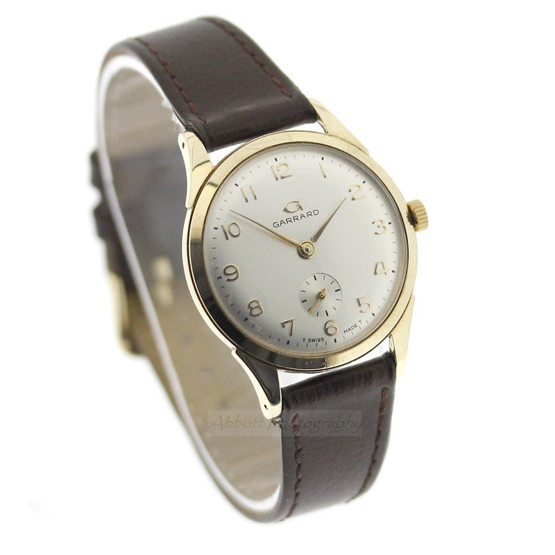 GARRARD 9ct gold vtg watch