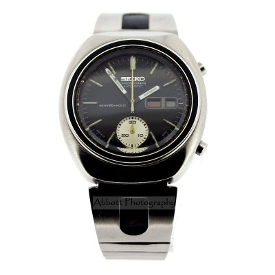 Seiko 6139 8002 70s chronograph watch