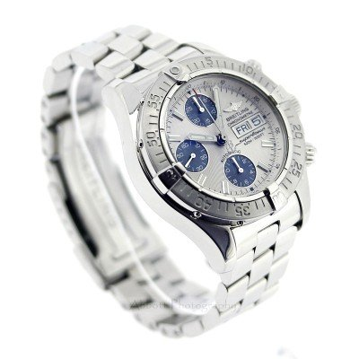 Breitling Superocean A13340 11 Silver Blue Watch