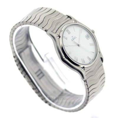 EBEL 9187141 Sports Classique Wave 1996 Slim Mens Quartz Watch
