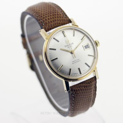 TISSOT Seastar Automatic Gold Plated Gents Dress Watch 36mm Date - Serviced