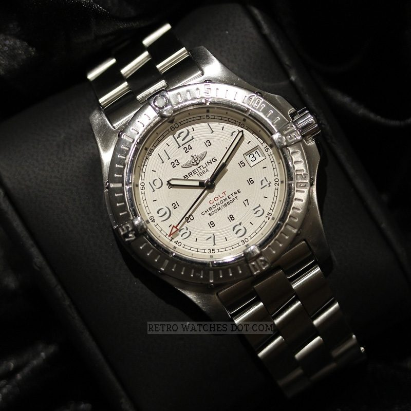 BREITLING Aeromarine Colt A7438010 G598 Quartz Watch 2008 Box Papers Serviced 2015