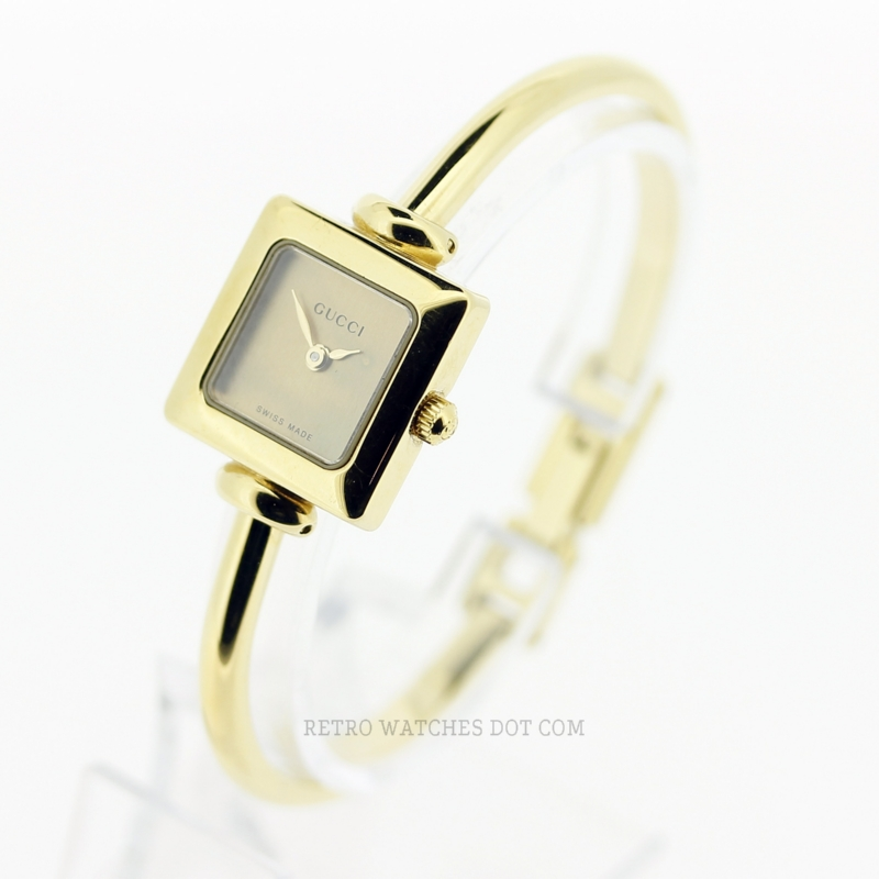 f9f4c2d2d3d GUCCI 1900L Gold Bangle Ladies 19mm Watch Swiss Quartz 2002 Box Papers   SOLD