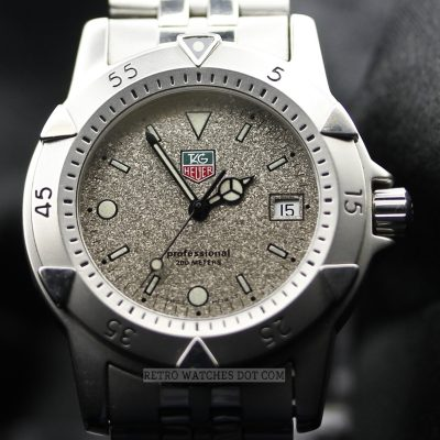 TAG HEUER Professional 200M Granite Dial Retro Watch WD1211 K 20