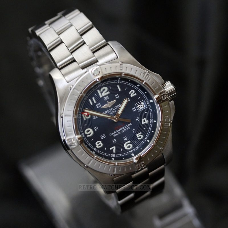 BREITLING A74380 Colt Blue Dial Box Papers 2008 41mm