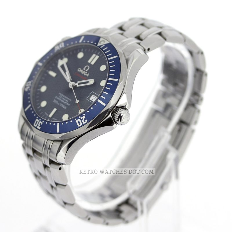 OMEGA Seamaster 300M 22208000 41mm Blue Wave Dial Watch Box Papers 2011