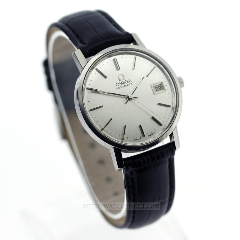 OMEGA 1979 Retro Vintage Automatic Silver Dial Dress Watch Caliber 1010 166.0202