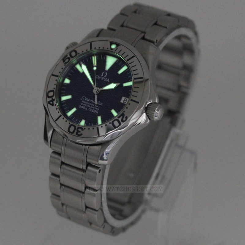 OMEGA Seamaster 300 Mid Size Automatic Watch : Electric Blue Dial 2253 8000