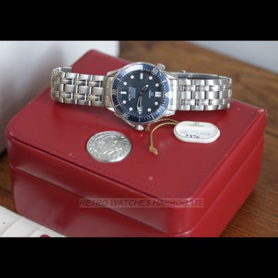 OMEGA Seamaster 300M 41mm Automatic Chronometer Luxury Watch - Blue Dial B+P 25318000